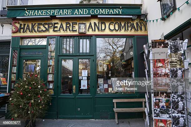 A general view of the 'Shakespeare and Company' english bookstore on December 13 2013 in Paris France