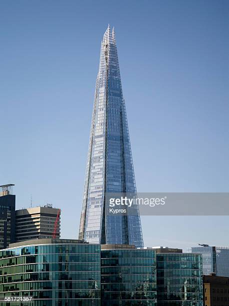 General view of The Shard skyscraper London 10th September 2015