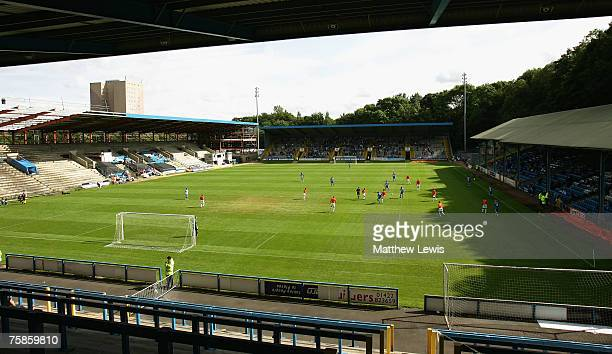 A general view of The Shay during the PreSeason Friendly match between Halifax Town and Wigan Athletic at The Shay on July 28 2007 in Halifax England