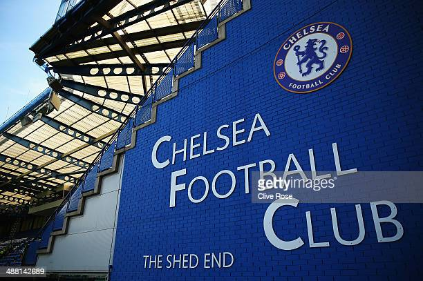 General view of the Shed End before the Barclays Premier League match between Chelsea and Norwich City at Stamford Bridge on May 4 2014 in London...