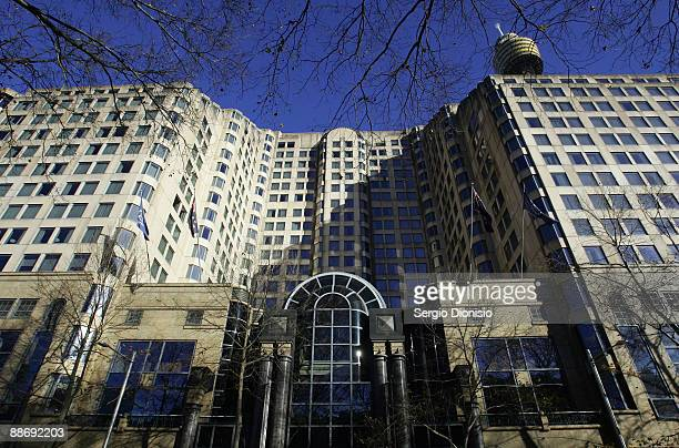 A general view of the Sheraton on the Park Hotel where pop icon Michael Jackson married his second wife Debbie Rowe in 1996 is seen on June 26 2009...