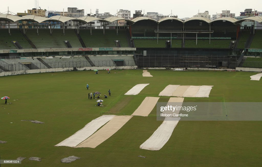 A general view of the Sher-E Bangla National Cricket Stadium on August 21, 2017 in Dhaka, Bangladesh.