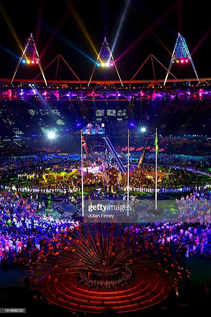 A general view of the show during the closing ceremony on day 11 of the London 2012 Paralympic Games at Olympic Stadium on September 9, 2012 in London, England.