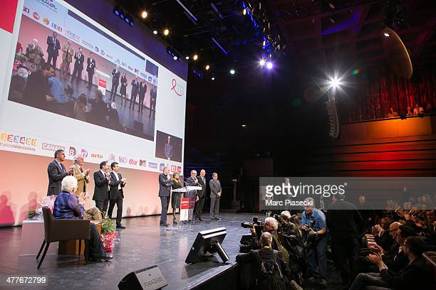 A general view of the 'Sidaction 20th Anniversary' at Musee du Quai Branly on March 10 2014 in Paris France