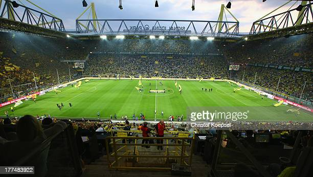 General view of the Signal Iduna Park prior to the Bundesliga match between Borussia Dortmund and Werder Bremen at Signal Iduna Park on August 23...