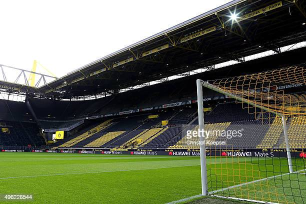 General view of the Signal Iduna Park prior to the Bundesliga match between Borussia Dortmund and FC Schalke 04 at Signal Iduna Park on November 8...