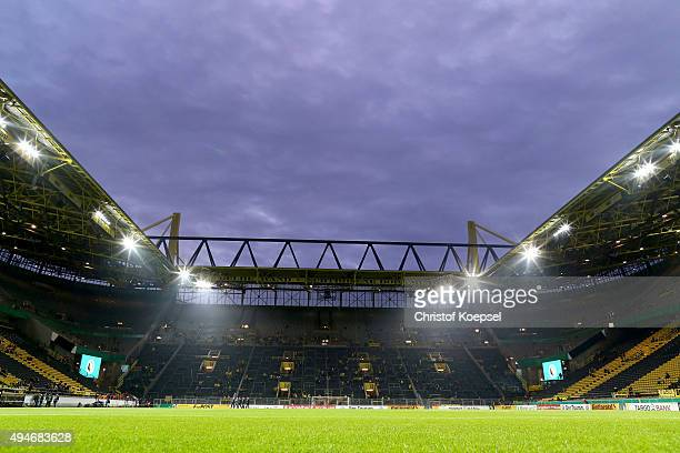 General view of the Signal Iduna Park prior to the DFB Cup match between Borussia Dortmund and SC Paderborn at Signal Iduna Park on October 28 2015...