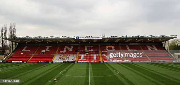 A general view of the Sincil Bank Stadium on April 2 2012 in Lincoln England