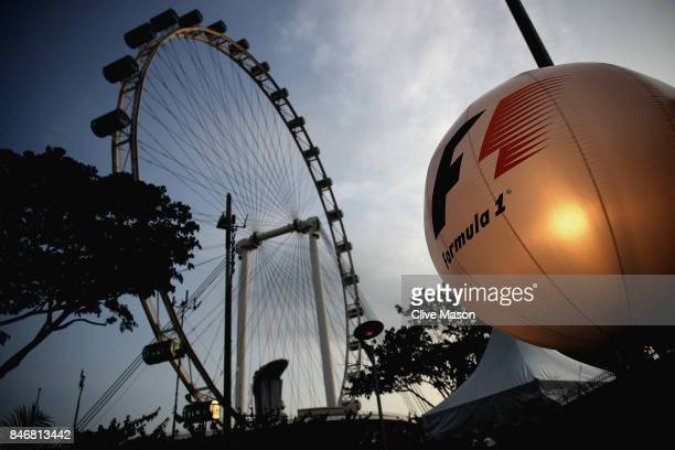 A general view of the Singapore Flyer during previews ahead of the Formula One Grand Prix of Singapore at Marina Bay Street Circuit on September 14...