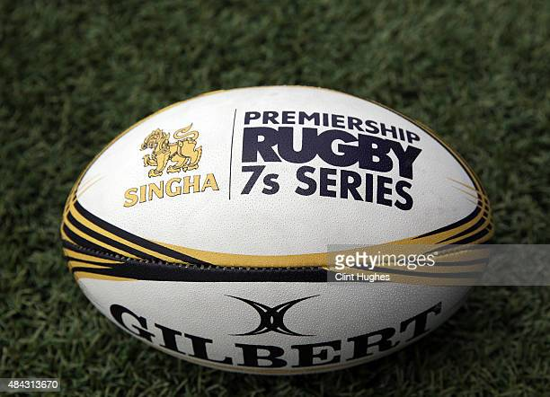 A general view of the Singha Premiership Rugby 7's Series ball during the Singha Premiership Rugby 7's Series Cardiff match at Cardiff Arms Park on...
