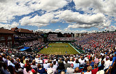 A general view of the singles match between Andy Murray of Great Britain and Gilles Simon of France on during Day Three of The World Group Quarter...