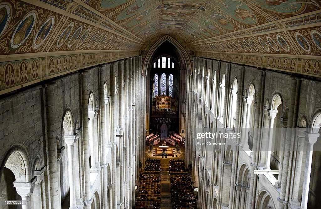 A general view of the Sir Henry Cecil memorial service at Ely Cathedral on September 16 2013 in Ely England