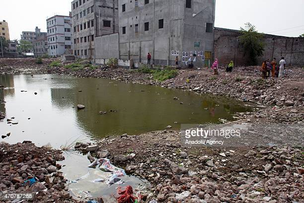 General view of the site of Rana building collapse is seen on the secondyear anniversary of the incident at Savar in Dhaka Bangladesh on April 23 2015
