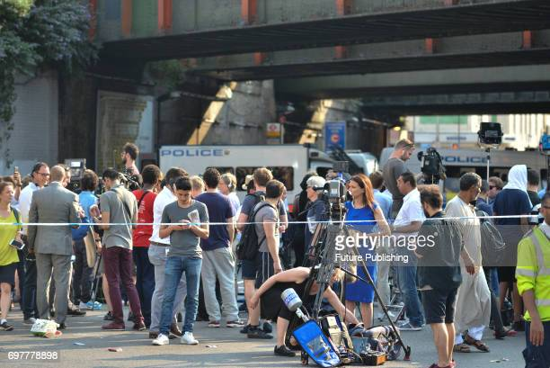 A general view of the site of terror attack near Finsbury Park Mosque on June 19 2017 in London England PHOTOGRAPH BY Matthew Chattle/Barcroft Images...