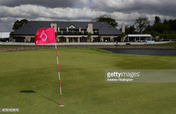 A general view of the sixth green and clubhouse during the Pro Am event prior to the start of GolfSixes at The Centurion Club on May 5 2017 in St...