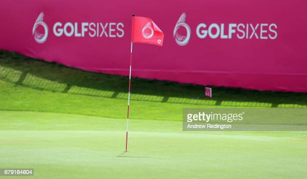 A general view of the sixth green during the Pro Am event prior to the start of GolfSixes at The Centurion Club on May 5 2017 in St Albans England