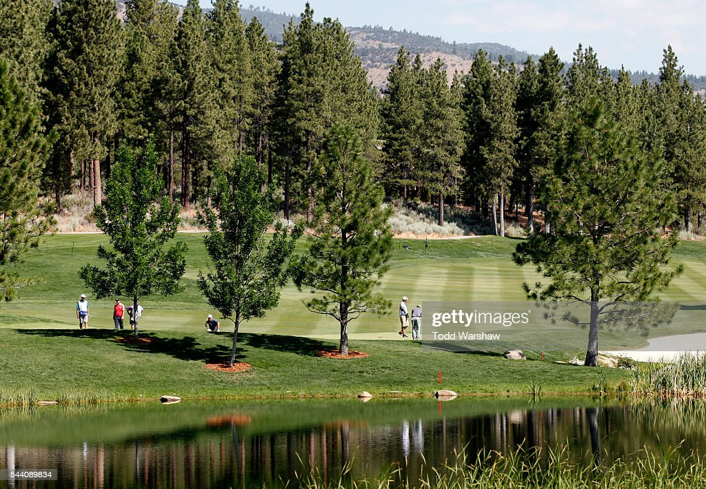 A general view of the sixth green during the second round of the Barracuda Championship at the Montreux Golf and Country Club on July 1, 2016 in Reno, Nevada.