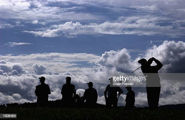 A general view of the sixth tee box during the Second Round of The Barclays Scottish Open held at the Loch Lomond GC in Dumbarton on July 12 2002