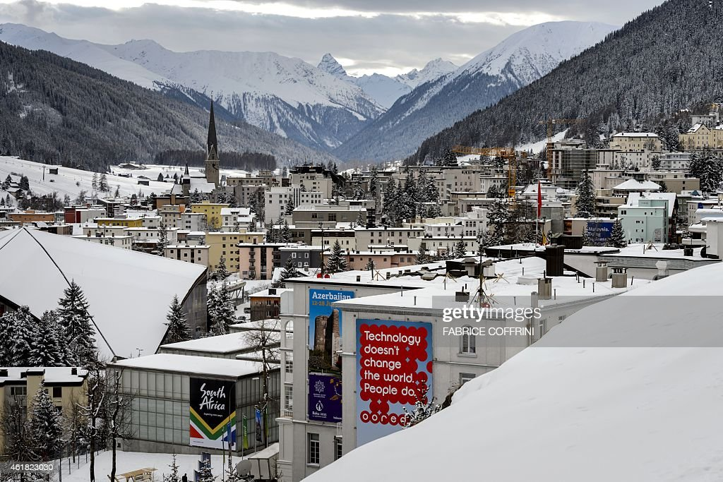 A general view of the ski resort of Davos taken on the eve of the World Economic Forum annual meeting on January 20 2015 in Davos World leaders...