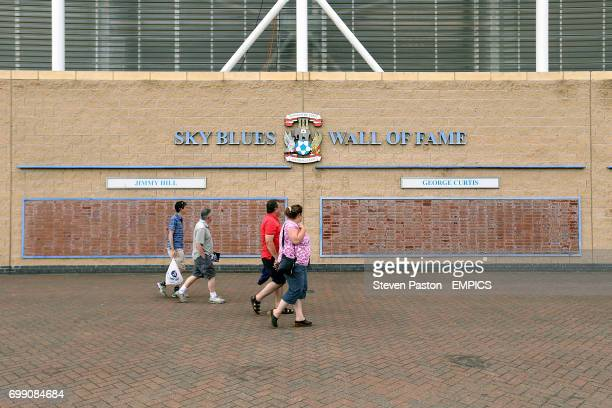 A general view of the Sky Blues Wall of Fame at the Ricoh Arena