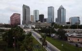 A general view of the skyline ahead of the Republican National Convention being held at the Tampa Bay Times Forum on August 26 2012 in Tampa Florida...