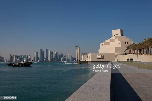 General view of the Skyline and the Museum of Islamic Art taken on December 25 2011 in Doha Qatar The FIFA World Cup 2022 will take place in Qatar
