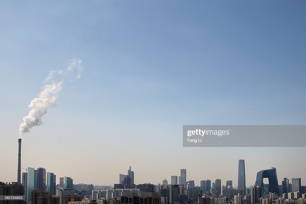 A general view of the skyline of central business district on February 19, 2013 in Beijing, China. Large amounts of organic nitrogen compounds were found in Beijing smog in January, the worst month in recent years. Most alarming is that the Chinese Academy of Sciences says they've found organic nitrogen particles, a key component in the deadly photochemical smog in Los Angeles in the 1950s and the Great Smog in London.
