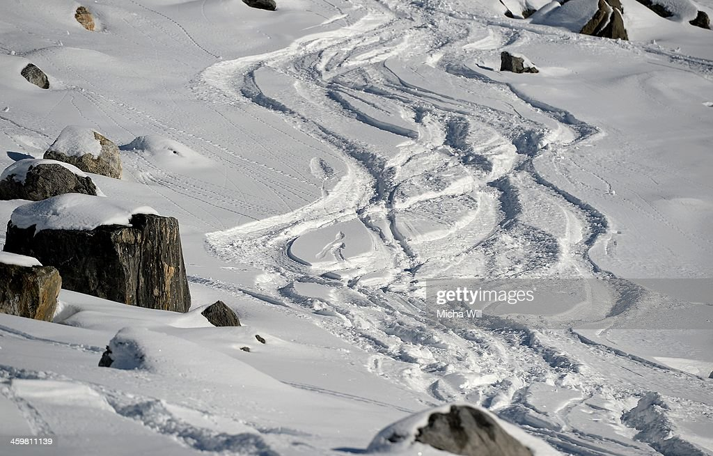 A general view of the slope on the Saulire Mountain where Michael Schumacher sustained his skiing accident on Sunday is seen on December 31, 2013 in Meribel, France. The seven time Formula 1 Champion's condition has improved slightly following an operation according to a press conference held at the Grenoble University Hospital Centre this morning, but he still remains in a critical state.