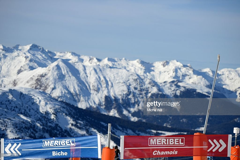 A general view of the slopes Biche and Chamois on the Saulire Mountain where Michael Schumacher sustained his skiing accident on Sunday on December 31, 2013 in Meribel, France. The seven time Formula 1 Champion's condition has improved slightly following an operation according to a press conference held at the Grenoble University Hospital Centre this morning, but he still remains in a critical state.