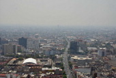 A general view of the smog covering the Mexico City skyline on March 30 2014 AFP PHOTO/ Yuri CORTEZ