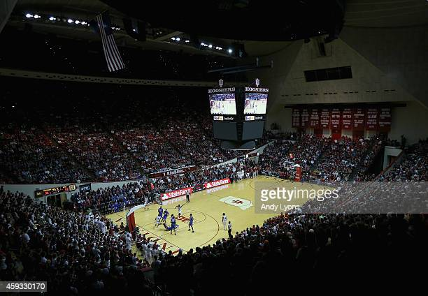 A general view of the SMU Mustangs game against the Indiana Hoosiers at Assembly Hall on November 20 2014 in Bloomington Indiana