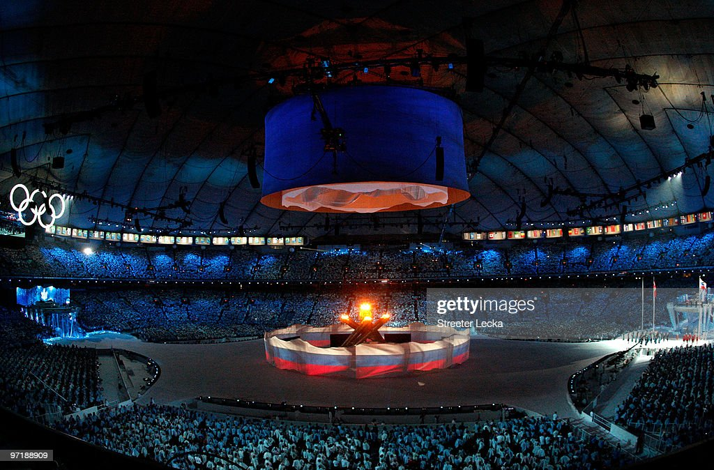 A general view of the Sochi 2014 Cultural Presentation during the Closing Ceremony of the Vancouver 2010 Winter Olympics at BC Place on February 28, 2010 in Vancouver, Canada.