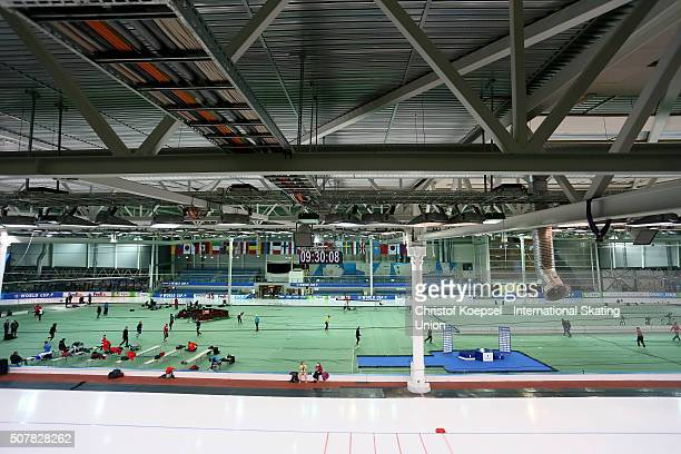 General view of the Soermark Arena during Day 3 of ISU Speed Skating World Cup at Soermarka Arena on January 31 2016 in Stavanger