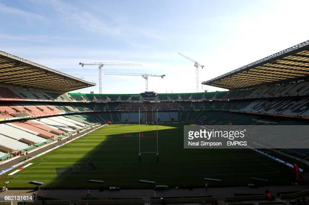 General view of the South Stand under construction at Twickenham