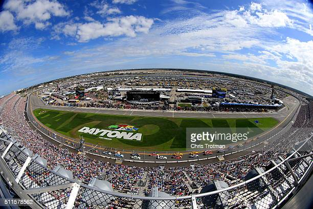 A general view of the speedway during the NASCAR Sprint Cup Series DAYTONA 500 at Daytona International Speedway on February 21 2016 in Daytona Beach...