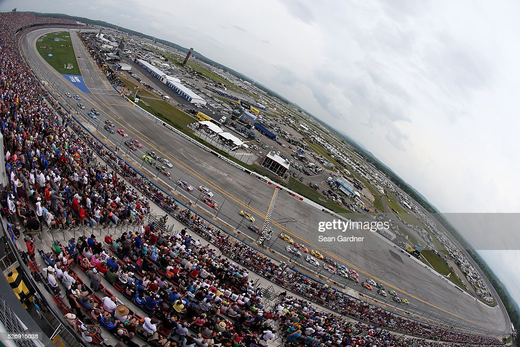 A general view of the speedway during the NASCAR Sprint Cup Series GEICO 500 at Talladega Superspeedway on May 1, 2016 in Talladega, Alabama.