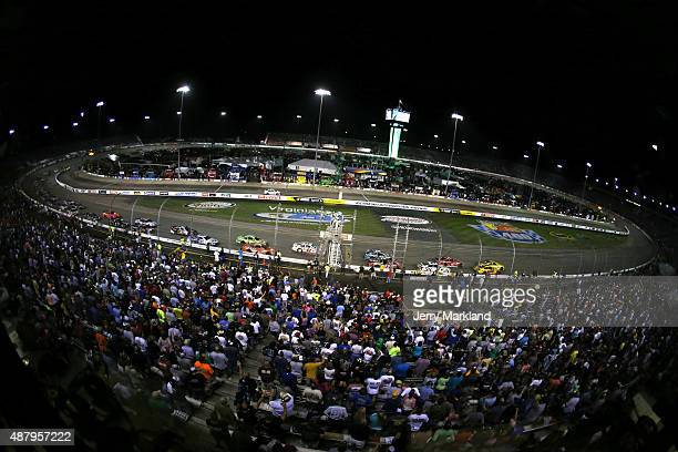 A general view of the speedway during the NASCAR Sprint Cup Series Federated Auto Parts 400 at Richmond International Raceway on September 12 2015 in...