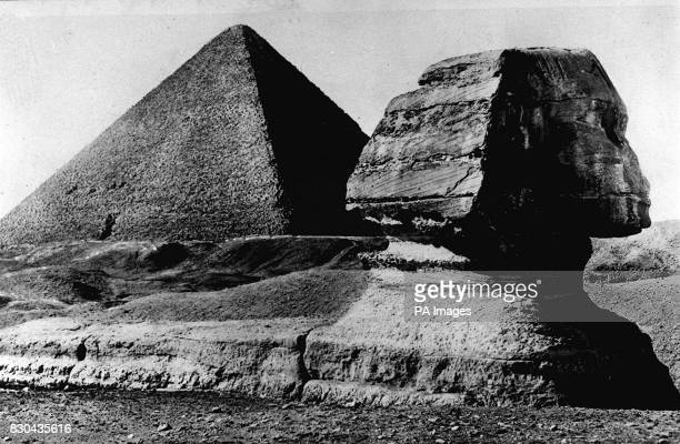 A general view of the Sphinx and a Pyramid at Giza near Cairo The Sphinx a humanheaded lion statue is thought to be around 4600 years old