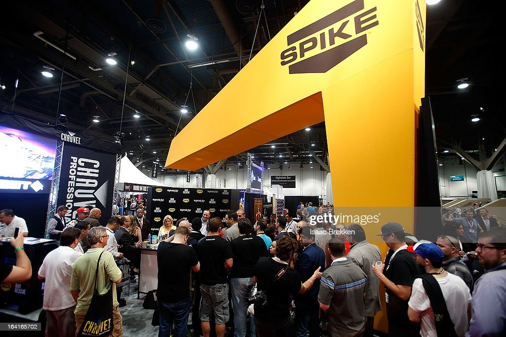 General view of the Spike TV booth at the 28th annual Nightclub & Bar Convention and Trade Show at the Las Vegas Convention Center on March 20th, 2013 in Las Vegas, Nevada.
