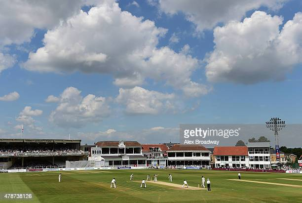 A general view of The Spitfire Ground during day three of the tour match between Kent and Australia at The Spitfire Ground St Lawrence on June 27...