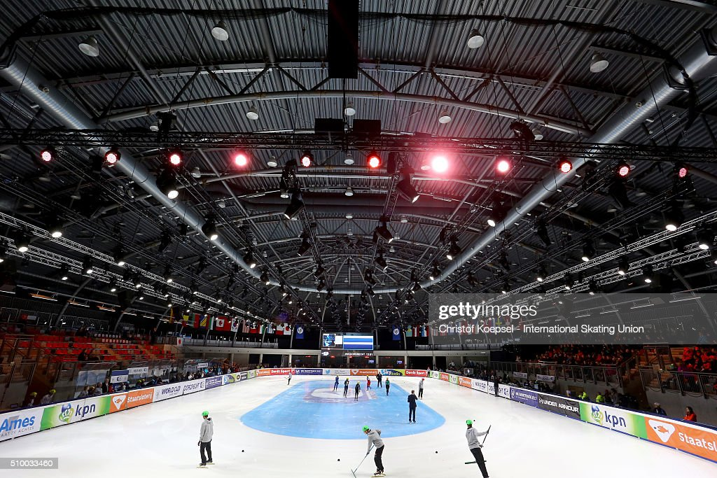 General view of the Sportboulevard during Day 2 of ISU Short Track World Cup at Sportboulevard on February 13, 2016 in Dordrecht, Netherlands.
