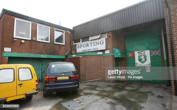 General view of the Sporting Clube De Londres in London where a woman diner was left with horrific burns after a Portuguese sausage dish exploded in...