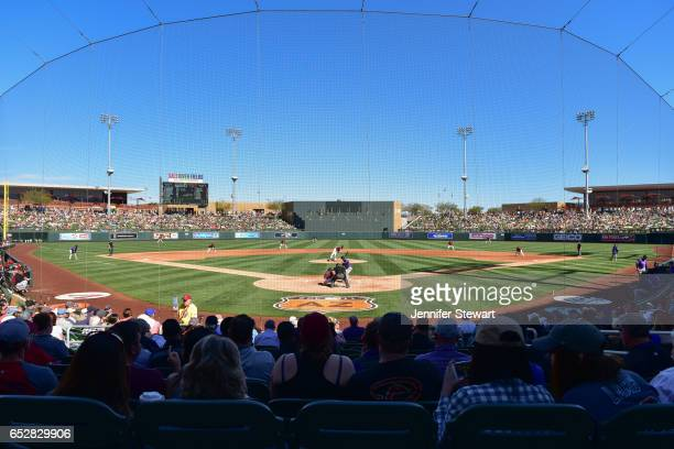 General view of the spring training game between Colorado Rockies and Arizona Diamondbacks at Salt River Fields at Talking Stick on February 25 2017...