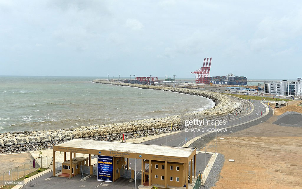 A general view of the Sri Lankas new mega port, the Chinese-built Colombo International Container Terminal (CICT) is pictured in Colombo on August 5, 2013. Sri Lanka launched its biggest port with Chinese funding to turn Colombo into a strategic shipping hub along the world's most lucrative trading route. AFP PHOTO/ Ishara S. KODIKARA
