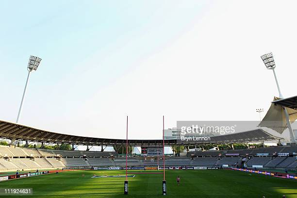 A general view of the Stade Charlety prior to the Amlin Challenge Cup Quarter Final match between Stade Francais and Montpellier at Stade Charlety on...