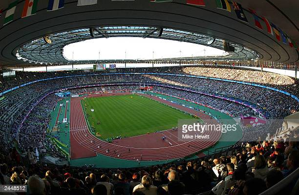 General view of the Stade de France stadium at the 9th IAAF World Athletics Championship August 30 2003 in Paris France
