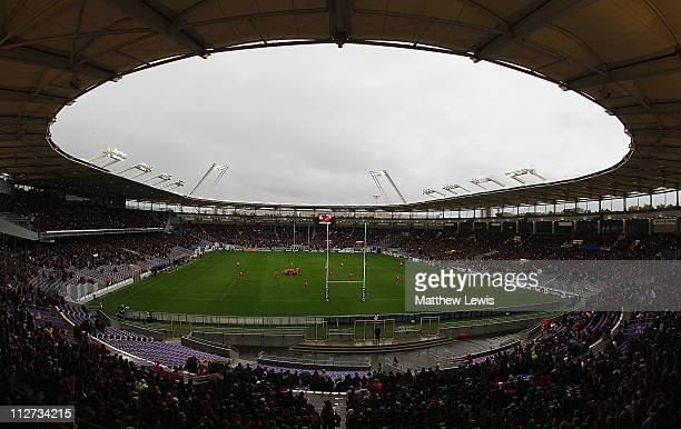 A general view of the Stade Municipal during the Heineken Cup Pool 6 match between Stade Toulouse and London Wasps at the Stade Municipal on October...