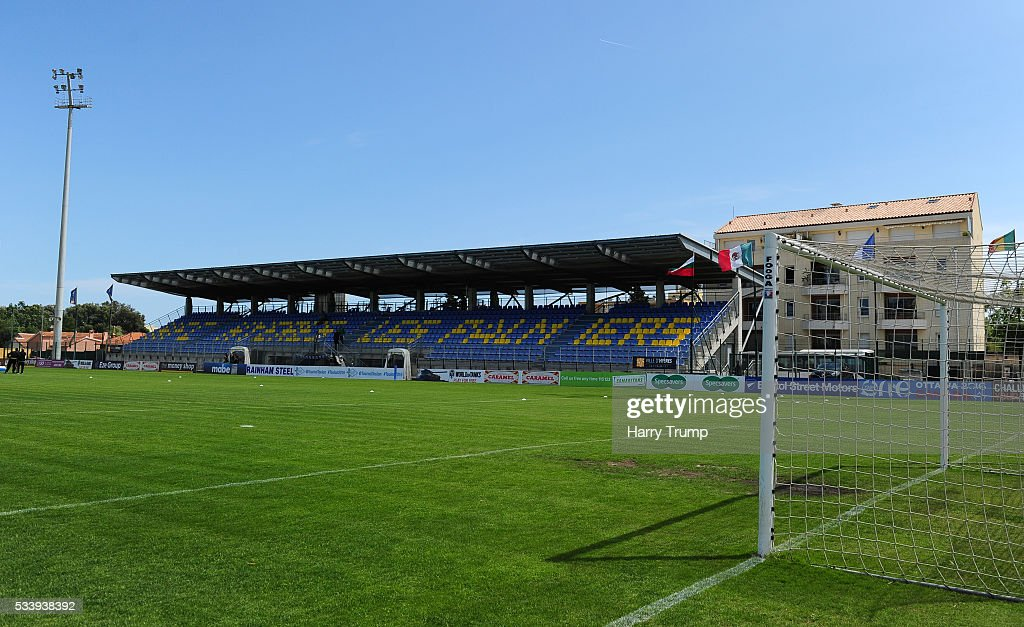 General view of the Stade Perruc during the Toulon Tournament match between Bulgaria and Mexico at Stade Perruc on May 24, 2016 in Hyeres, France.
