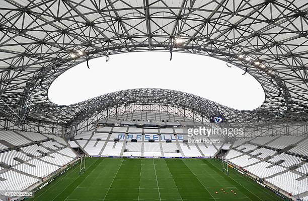 A general view of the Stade Velodrome prior to the European Rugby Champions Cup semi final match between RC Toulon and Leinster at Stade Velodrome on...