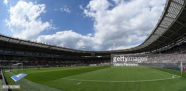 A general view of the Stadio Olimpico Grande Torino during the Serie A match between Torino FC and US Sassuolo Calcio at Stadio Olimpico Grande...